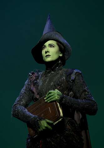 "Dee Roscioli as Elphaba in the national touring company of ""Wicked) Wicked Tour Emerald City Photo: Joan Marcus"