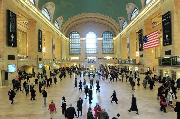 Grand Central Terminal, New York City, Thursday, Jan. 24, 2013. The landmark terminal celebrates its 100th birthday on Febuary 1st. Photo: Bob Luckey / Greenwich Time