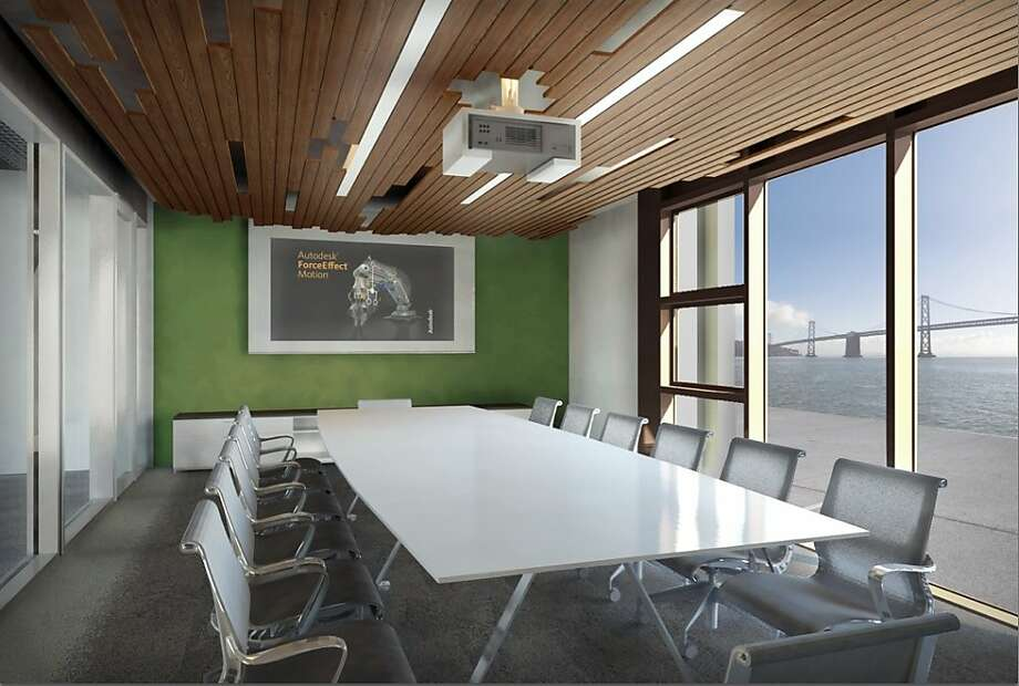 These renderings show Autodesk's planned 27,000-square-foot office space on Pier 9, just off the Embarcadero near the new Exploratorium. Photo: Courtesy Of Autodesk, Autodesk