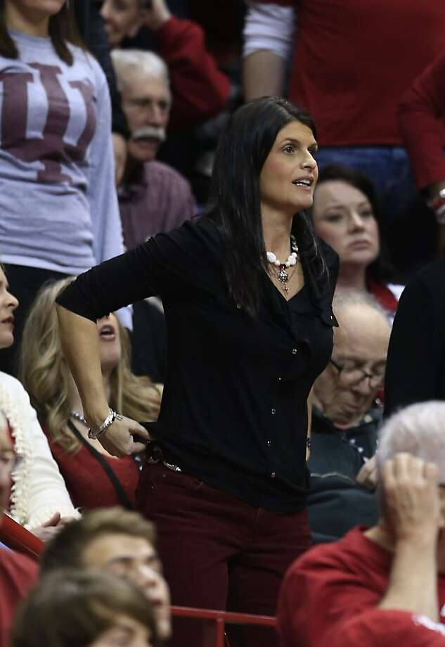 Joani Crean is still close to coaching as the wife of Indiana's Tom Crean. Photo: Darron Cummings, Associated Press