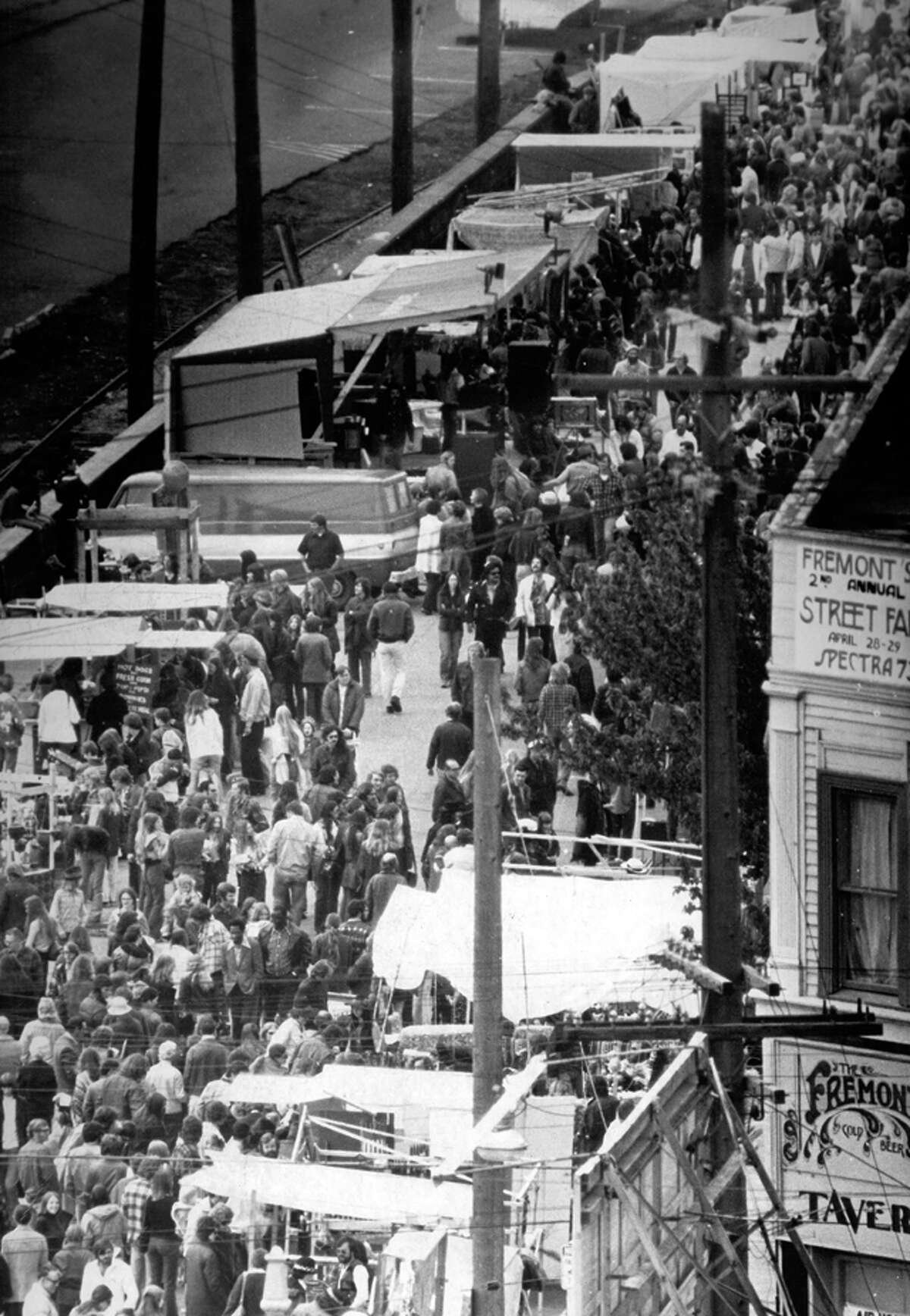 1973: The Fremont Fair is shown on April 28, 1973. The Solstice Parade began as an annual event in 1989.