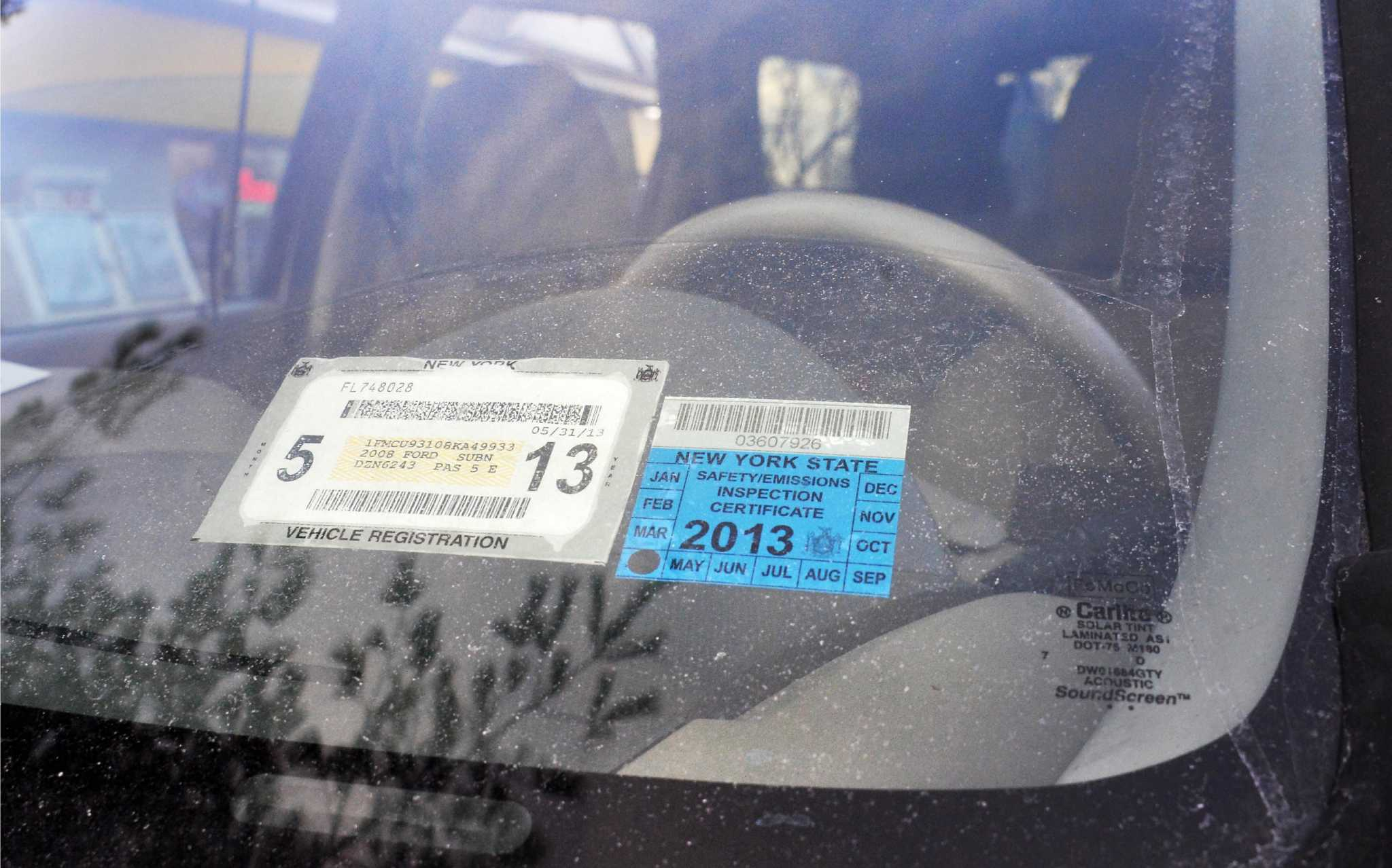 Flaws Delay Dmv Registration Stickers Times Union