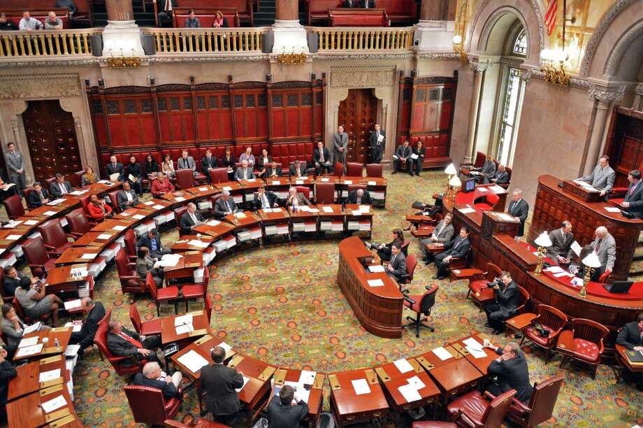 The New York Senate in session Thursday morning, Jan. 24, 2013, in Albany, N.Y.  (John Carl D'Annibale / Times Union) Photo: John Carl D'Annibale / 00020898A