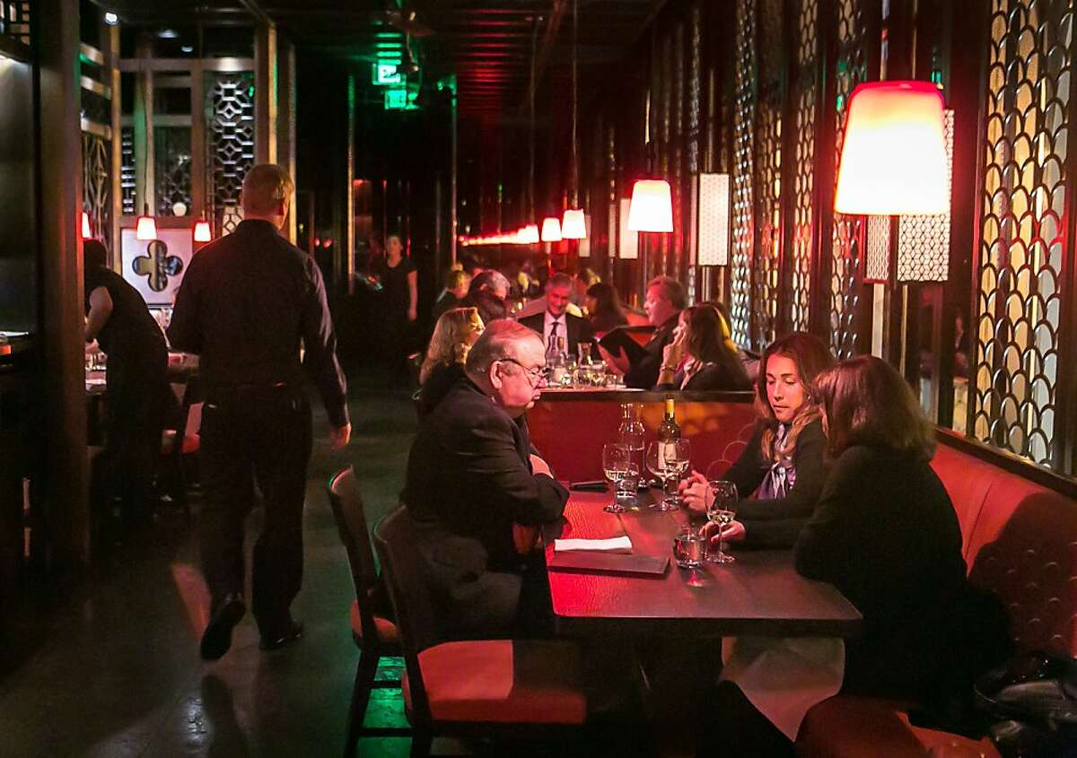 Diners enjoy dinner at Hakkasan restaurant in San Francisco, Calif. on Wednesday, January 23rd, 2013.