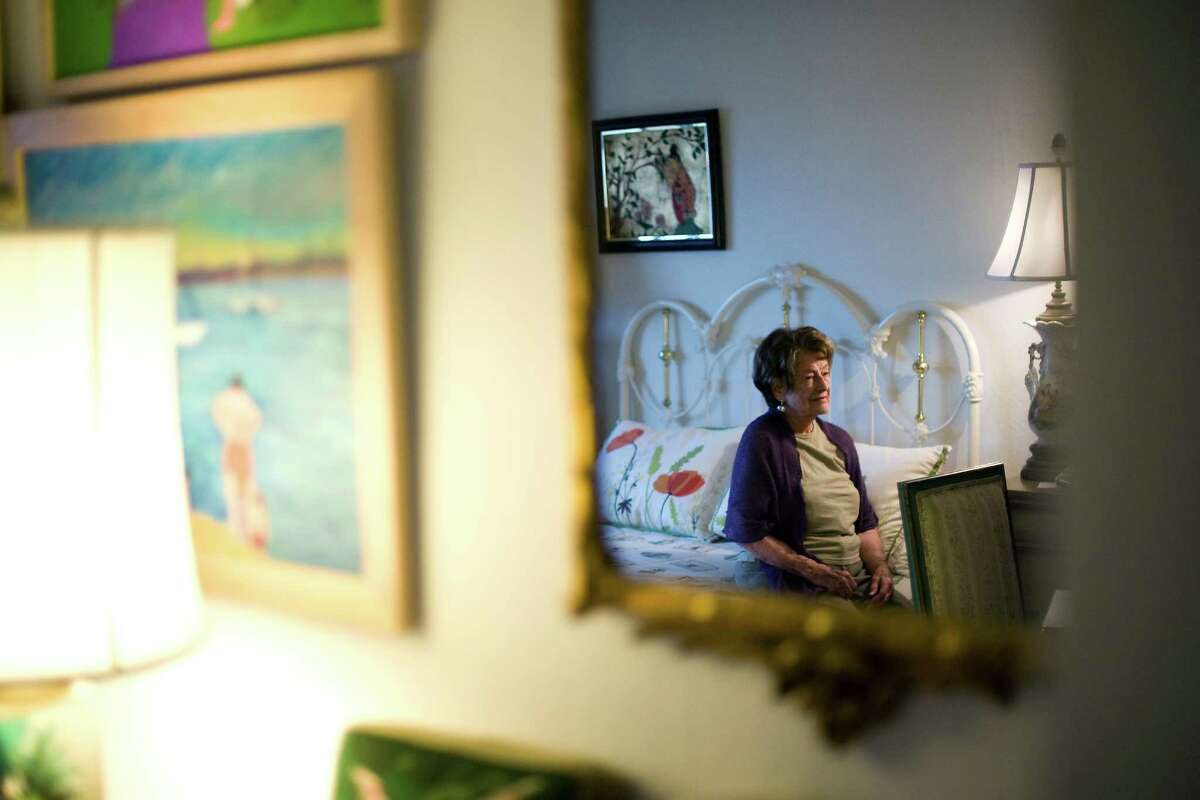 Molly Greenberg, who turned 100 in December 2012, poses for a portrait in her room at her assisted-living facility in Oakland in January 2013.