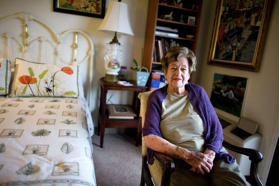 Molly Greenberg, who turned 100 in December 2012, poses for a portrait in her room at her assisted-living facility in Oakland in January 2013. Photo: Michael Short / Special To The Chronicle / ONLINE_YES