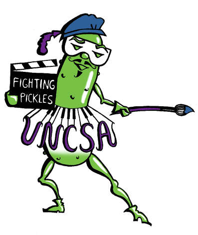 UNCSA Fighting PicklesUniversity of North Carolina School of the ArtsWinston-Salem, N.C.As you might assume, UNCSA doesn't officially have an athletics program, but the students who do sports on campus have adopted this cute mascot. We particularly like the mustache.