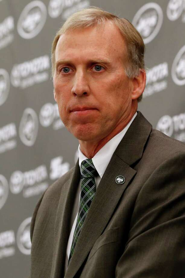 John Idzik talks to the media during an NFL football news conference introducing him as the new new general manager of the New York Jets, Thursday, Jan. 24, 2013, in Florham Park , N.J. (AP Photo/Julio Cortez) Photo: Julio Cortez