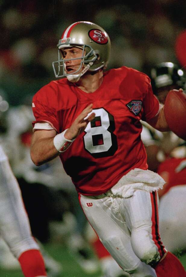 San Francisco quarterback Steve Young prepares to pass during the third quarter of Super Bowl XXIX action against the San Diego Chargers at Joe Robbie Stadium in Miami, Fla., Sunday, Jan. 29, 1995.  Young set a Super Bowl record with six touchdown passes during the game and was named the Super Bowl MVP. The 49ers won 49-26. Photo: DOUG MILLS / ONLINE_YES