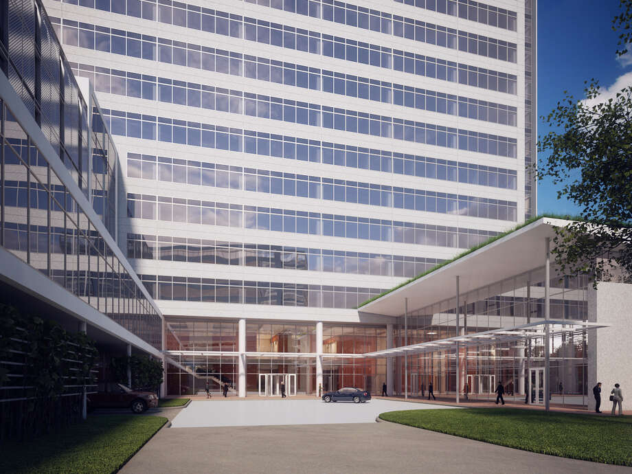 A rendering of Noble Energy Center Two. (Renderings byKirksey Architecture; photo byJohn Mooney with Positive Image) Photo: TCC/Kirksey