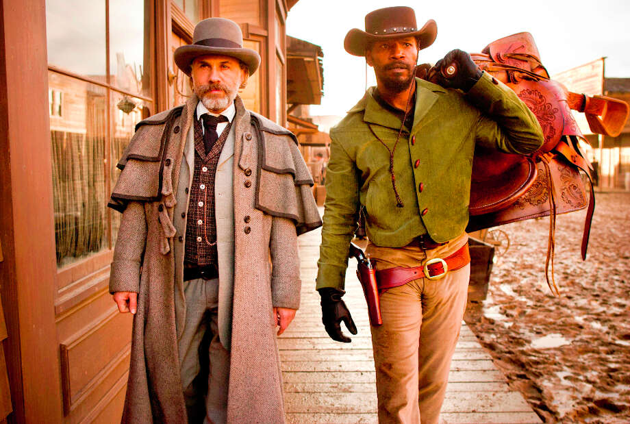 """Django Unchained""Nominations: picture, supporting actor (Christoph Waltz)In theaters: Multiple theaters in Capital RegionOn DVD: UnknownChristoph Waltz as Schultz and Jamie Foxx as Django in Django Unchained. Photo: Andrew Cooper SMPSP, AP / The Weinstein Company"