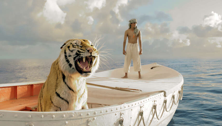 """Life of Pi""Nominations: picture, director (Ang Lee)In theaters: Crossgates Stadium 18 & Imax, Madison TheatreOn DVD: March 12Suraj Sharma in Life of Pi, directed by Ang Lee. Photo: Jake Netter, AP / 20th Century Fox"