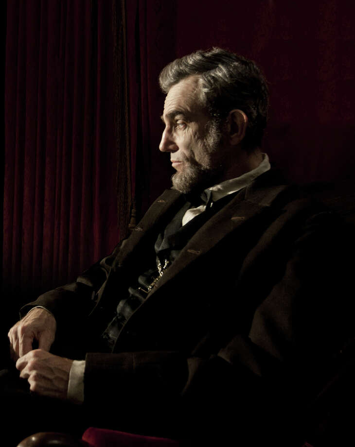 """""""Lincoln""""Nominations: picture, actor (Daniel Day-Lewis), supporting actor (Tommy Lee Jones), supporting actress (Sally Field), director (Steven Spielberg)In theaters: Multiple theaters in Capital RegionOn DVD: March 26Daniel Day-Lewis portraying Abraham Lincoln in Lincoln. Photo: David James, AP / DreamWorks/Twentieth Century Fox"""