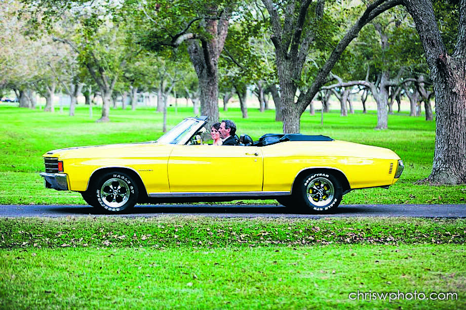 Len Copperwheat's 1972 Chevelle convertible played a pivotal role in his daughter's wedding and then became a wedding gift. Photo: PHOTO COURTESY OF LEN COPPERWHEA