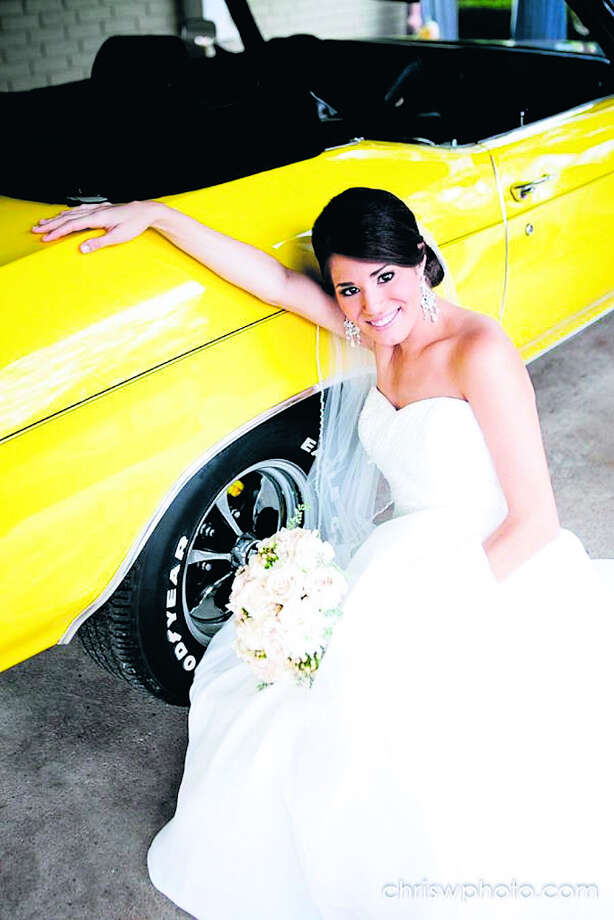 At his daughter Stephanie''s request, Len Copperwheat drove her to the aisle during her outdoor wedding in his 1972 Chevelle convertible. Photo: PHOTO COURTESY OF LEN COPPERWHEA