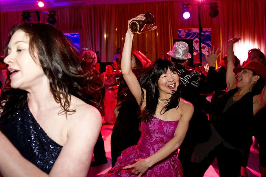 Stephanie Lau (center) takes part in a flash-mob routine at the after-party for the San Francisco Ballet Opening Night Gala. Photo: Laura Morton, Special To The Chronicle