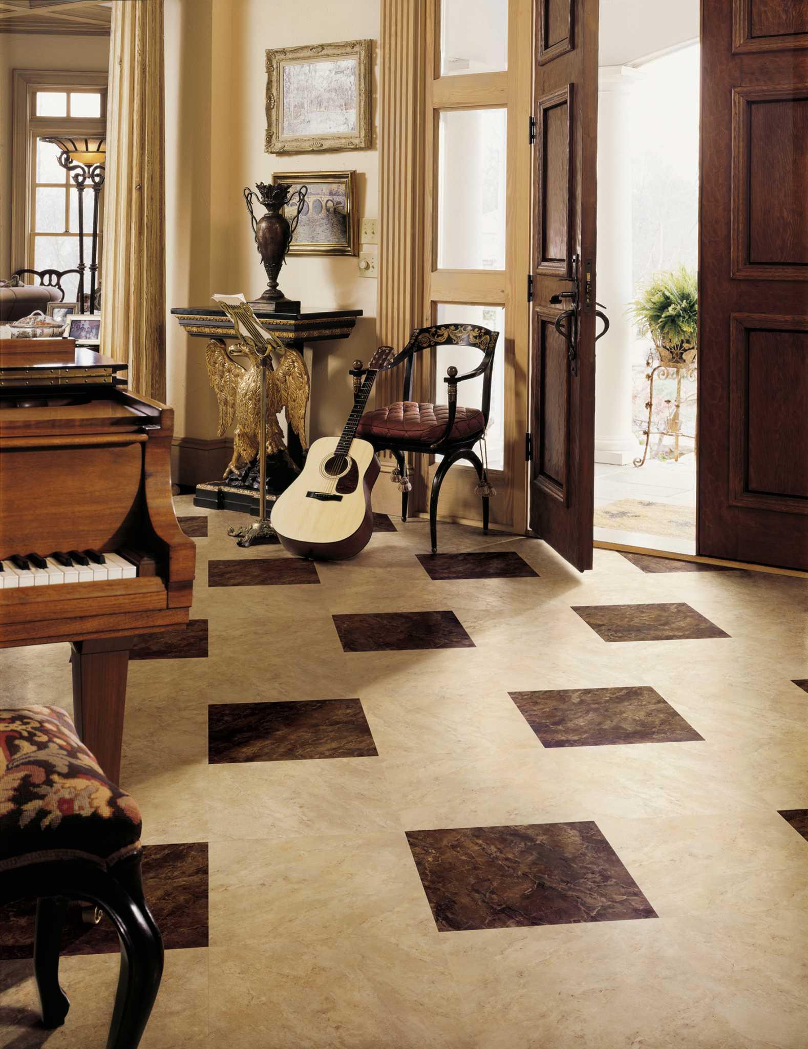Modern luxury vinyl flooring fools the eye