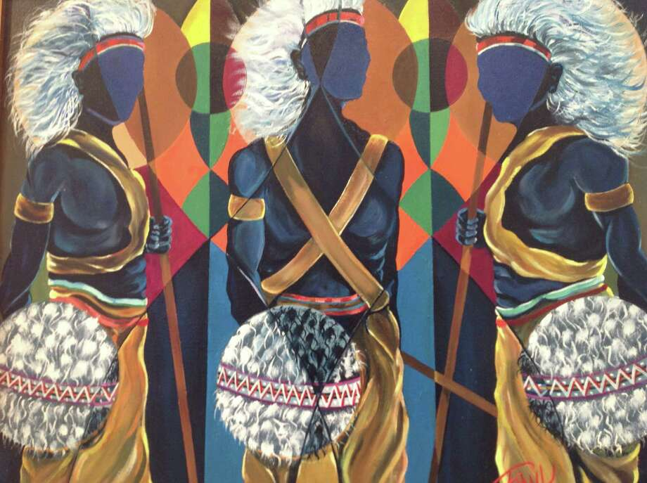 """Xolani Zulu Piece Warrior"" is part of the ""Remembering the Harlem Renaissance"" exhibit at the Carver. Photo: Carver Community Cultural Center"