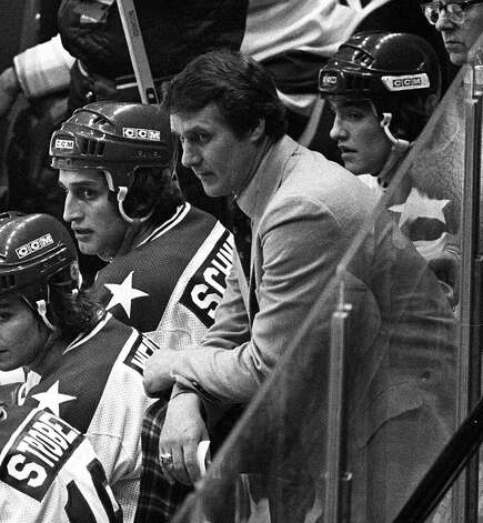 ADVANCE FOR WEEKEND EDITIONS FEB. 20-21--FILE--USA coach Herb Brooks, center, looks on from the bench during the closing minutes of the semifinal game against the USSR at the 1980 Winter Olympic Games in this Feb. 22, 1980 photo in Lake Placid, N.Y. The USA upset the Russian team 4-3. Two days later, the Americans came from behind with three goals in the third period against Finland to clinch the gold medal Photo: FILE, AP / AP