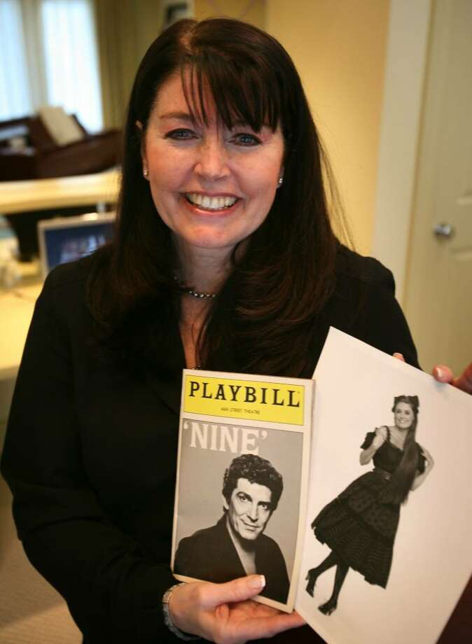 Beverly Lambert of Fairfield hold an original Playbill, and a cast photo of herself from the Broadway play Nine. A film version of the play opens in movie theaters on Christmas day. Photo: Brian A. Pounds / Connecticut Post