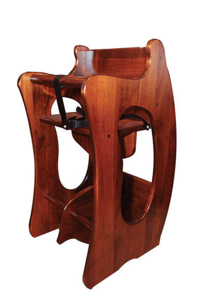 """3 in 1""Talk about multi-use: This piece is a booster seat, a child's desk, and a rocking"