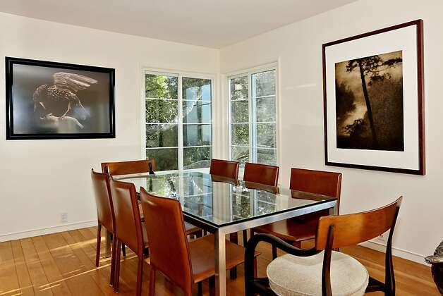 The dining room in the top level of the three-story triplex. Photo: Liz Rusby