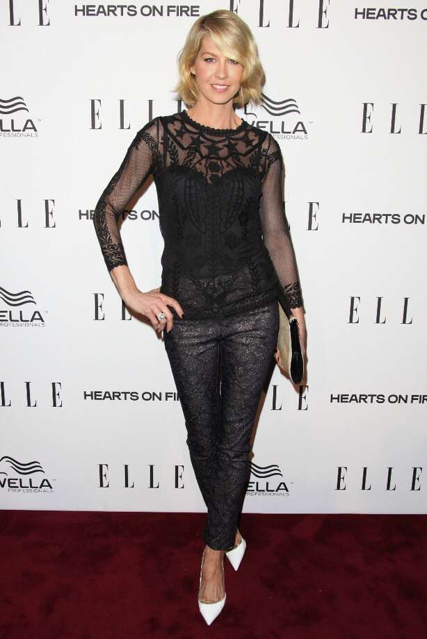 Jenna Elfman attends the ELLE Women in Television Celebration presented by Hearts on Fire Diamonds and Wella Professionals held at Soho House on January 24, 2013 in West Hollywood, California. Photo: Tommaso Boddi, Getty Images / 2013 Getty Images