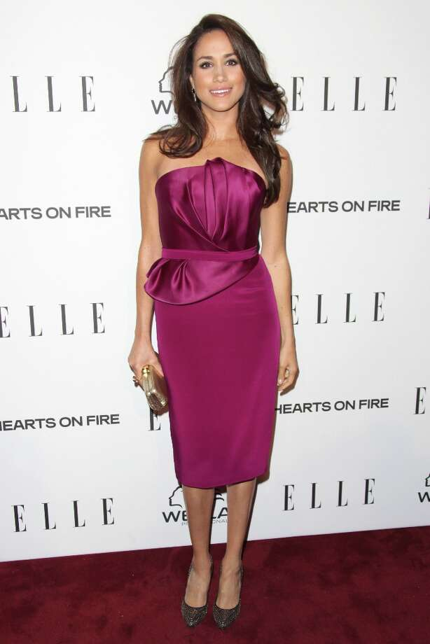 Meghan Markle attends the ELLE Women in Television Celebration presented by Hearts on Fire Diamonds and Wella Professionals held at Soho House on January 24, 2013 in West Hollywood, California. Photo: Tommaso Boddi, Getty Images / 2013 Getty Images