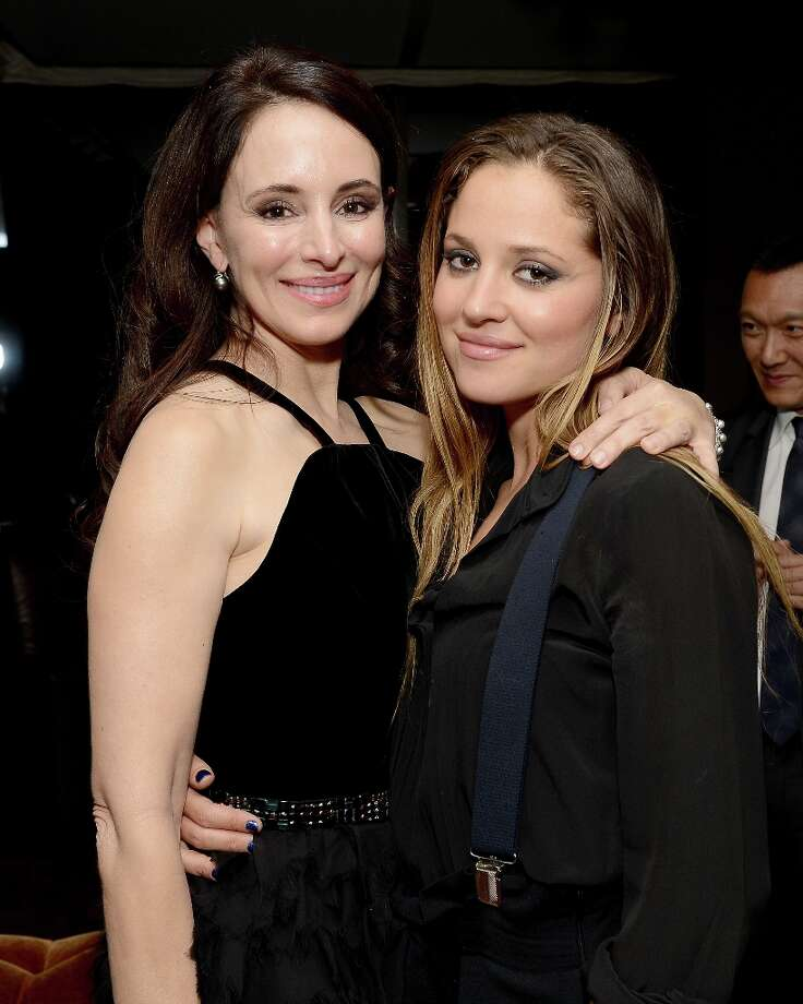 Actresses Madeleine Stowe (L) and Margarita Levieva attend the ELLE's Women in Television Celebration at Soho House on January 24, 2013 in West Hollywood, California. Photo: Michael Kovac, Getty Images For ELLE / 2013 Getty Images