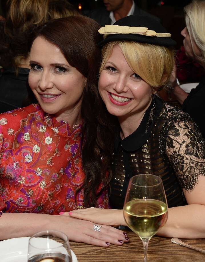 Costume Designer Katherine Jane Bryant (L) and guest attend the ELLE's Women in Television Celebration at Soho House on January 24, 2013 in West Hollywood, California. Photo: Michael Kovac, Getty Images For ELLE / 2013 Getty Images