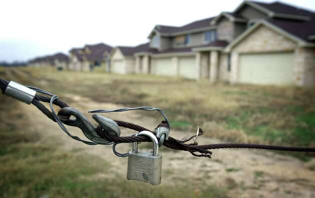 Tundra Town Home Village was developed by Mauro Padilla, who went to federal prison for lying to lender First National Bank Edinburg. Thursday, Jan. 24, 2013. The property in on Highway 16 S. just north of 1604. Photo: Bob Owen, San Antonio Express-News / © 2012 San Antonio Express-News