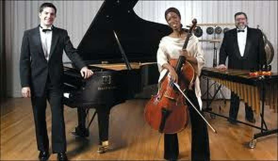 The Core Ensemble is a nationally-acclaimed trio of cello, piano and percussion. (Schenectady County Community College)