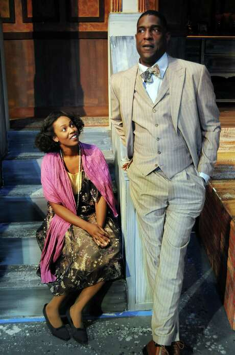 Countee Cullen (Mirron Willis), an up-and-coming poet, is handpicked to wed  Yolande (Elaine) by her father. Photo: Dave Rossman, Freelance / © 2013 Dave Rossman