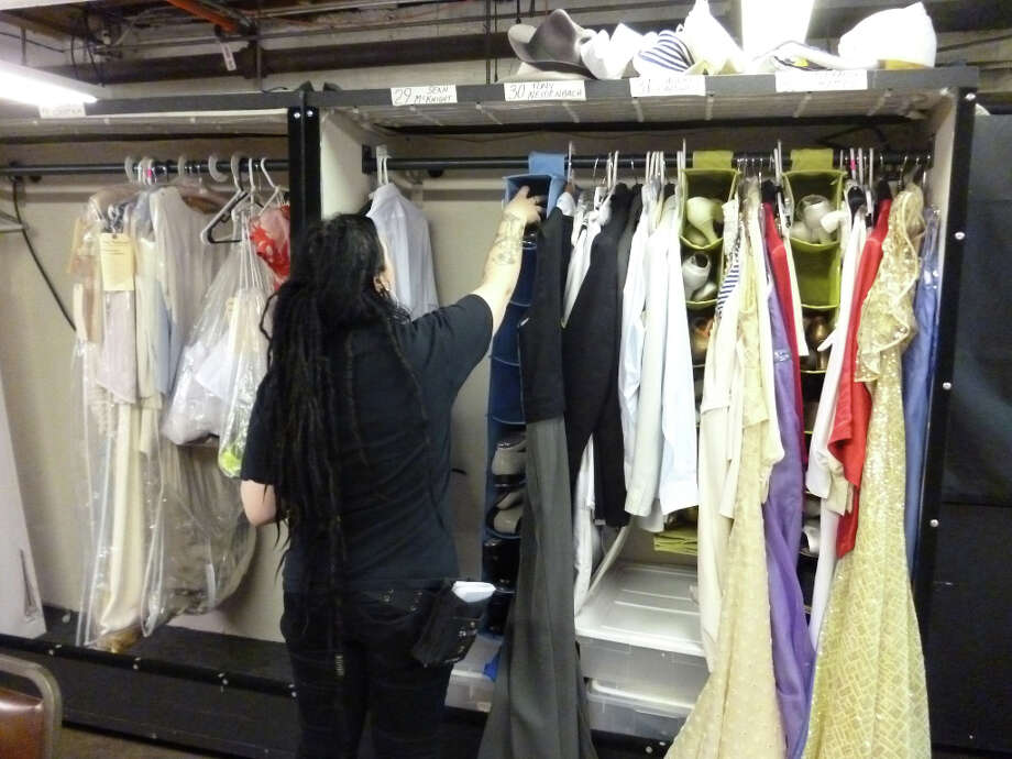 Backstage in the wardrobe department at Anything Goes.