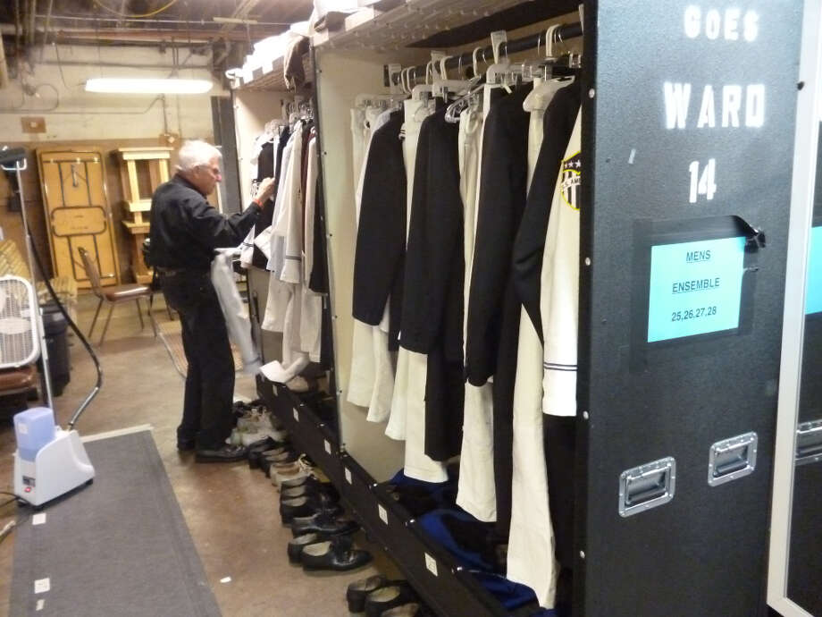 The men's dressing area.