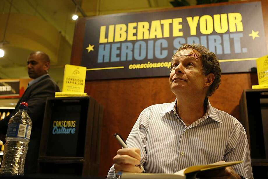 John Mackey promotes his book in San Francisco. Photo: Sean Havey, The Chronicle