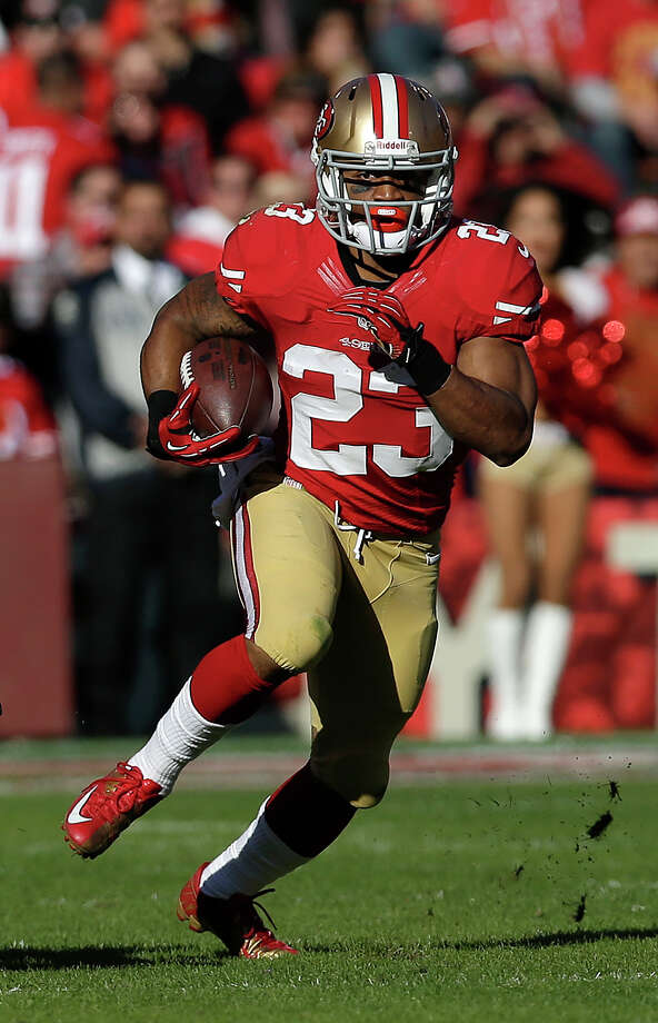 San Francisco 49ers running back LaMichael James (23) runs against the Arizona Cardinals during the second quarter of an NFL football game in San Francisco, Sunday, Dec. 30, 2012. (AP Photo/Marcio Jose Sanchez) Photo: Marcio Jose Sanchez, Associated Press / AP