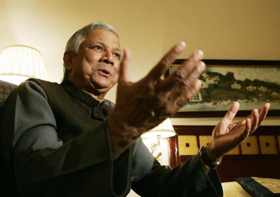 Muhammad Yunus, who invented mirofinance, says world poverty could be consigned to museums if banks stimulate the creative energives of poor people. Photo: Leonhard Foeger, REUTERS