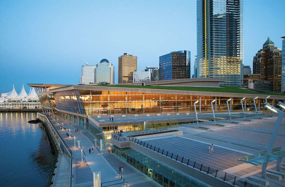 """Seattle's LMN architects won an Architecture Honor Award for the West Building of the Vancouver Convention Centre, in Vancouver, British Columbia.""""The conceptual goal of the 22-acre waterfront development is to close the gap between the natural ecosystem surrounding Vancouver and the human ecosystem concentrated at the downtown core,"""" according to a project description. The project achieved top-level platinum certification through the Leadership in Energy and Environmental Design Canada program, and features seawater heat pumps, 400,000 square feet of open space and a multimodal public transportation hub. Photo: Vancouver Convention Centre / © KRISTOPHER GRUNERT 2009"""