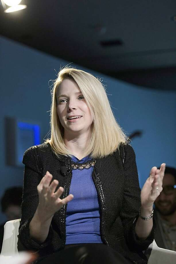 Yahoo CEO Marissa Mayer is working on the turnaround plan for a year. Photo: Laurent Gillieron, Associated Press