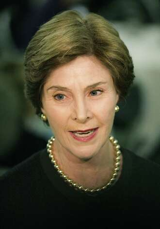 Former First Lady Laura Bush speaks at the Texas Natural Resource/Environmental Literacy Summit for Leadership and Action held at TriPoint Conference Center. Photo: Bob Owen, San Antonio Express-News / © 2012 San Antonio Express-News