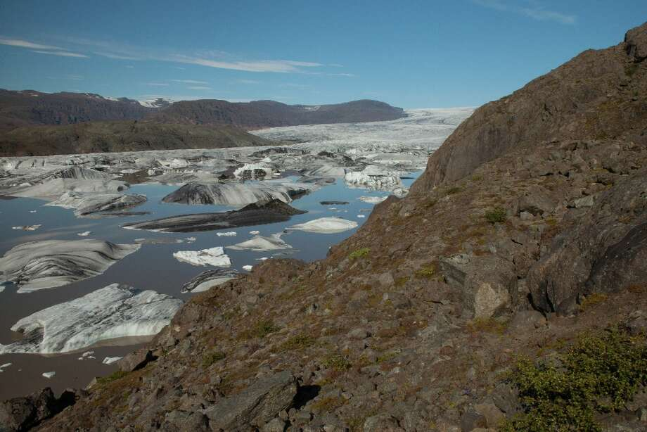 Glaciers in Vatnajokull National Park.