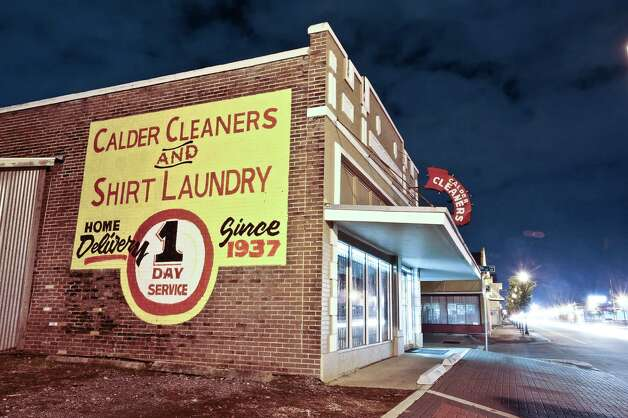 A thirty second exposure of Calder Cleaners located at 2395 Calder Avenue after dark on December 5, 2012. Photo taken: Randy Edwards/The Enterprise