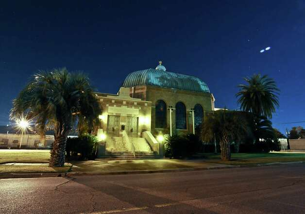 A thirty second exposure of the Temple Emanuel at 1120 Broadway Street  in downtown Beaumont on December 5, 2012. Photo taken: Randy Edwards/The Enterprise