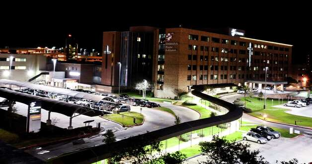 A thirty second exposure of CHRISTUS Hospital-St. Elizabeth located on 2830 Calder Street after dark on January 16, 2013. Photo taken: Randy Edwards/The Enterprise