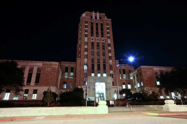 The Jefferson County Courthouse in Beaumont, Texas is one of the tallest courthouses in the state, and is an excellent example of Art Deco architecture. Located at 	1149 Pearl Street and built in 1931, it is the fourth courthouse built in Jefferson County. It was designed by Fred Stone and Augustin Babin, and is thirteen stories high. In 1981, an annex was added to the west side of the courthouse. Photo taken: Randy Edwards/The Enterprise