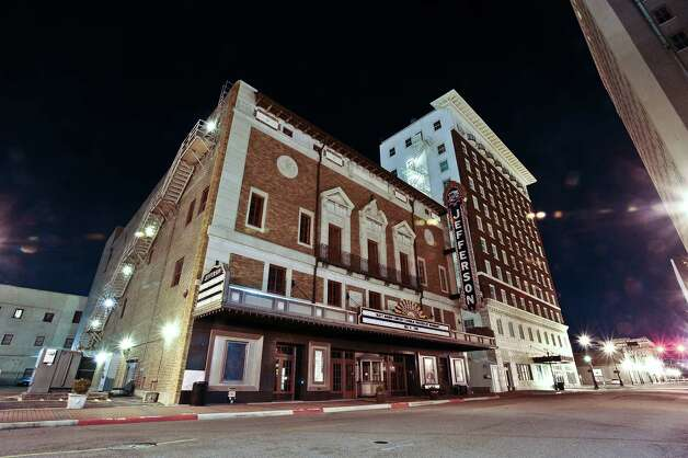 A thirty second exposure of the Jefferson Theater in downtown Beaumont on December 5, 2012. Photo taken: Randy Edwards/The Enterprise
