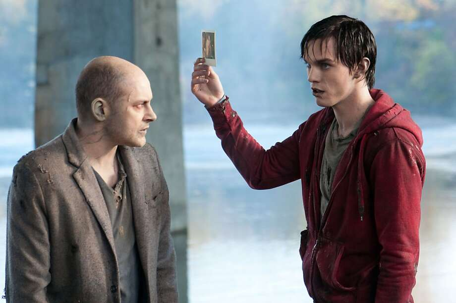 "Rob Corddry (left) and Nicholas Hoult star in ""Warm Bodies."" Photo: Jonathan Wenk, Associated Press"