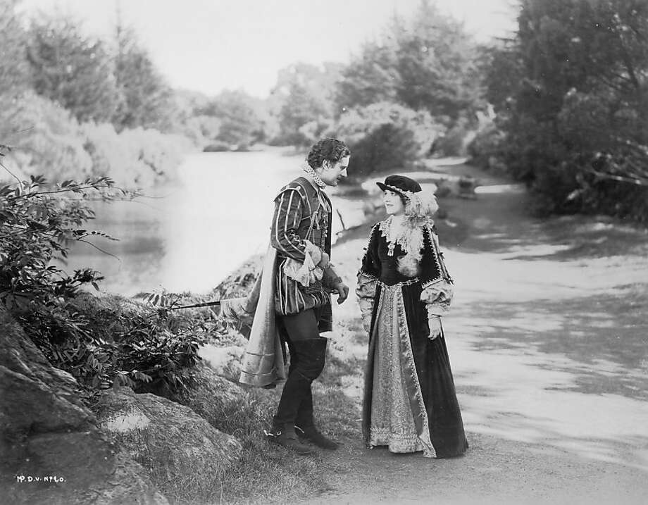 "Allan Forest and Mary Pickford star in scene shot in Golden Gate Park from ""Dorothy Vernon of Haddon Hall,"" playing Friday at the Roxie. Photo: Courtesy Christel Schmidt"