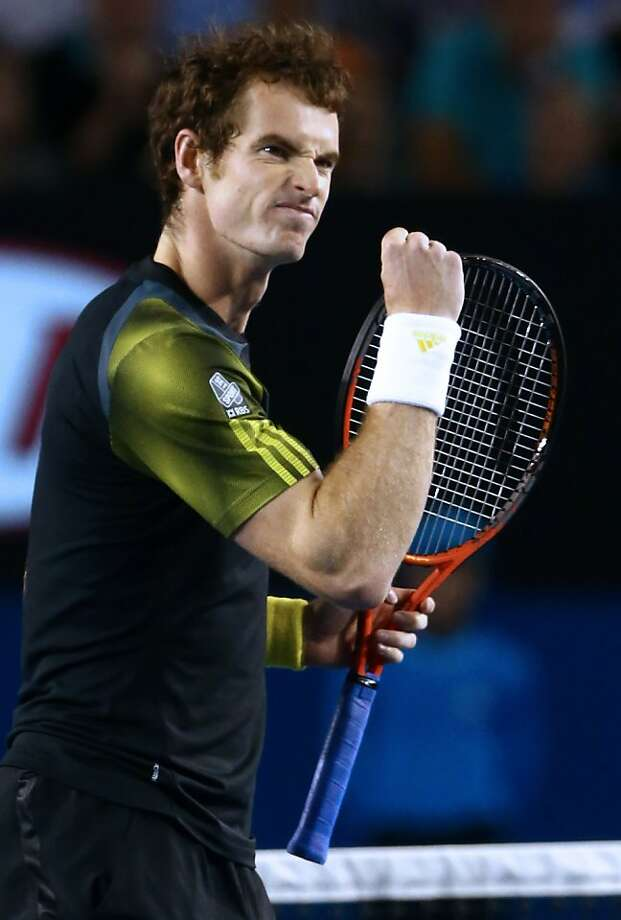 Andy Murray earned his first Grand Slam win against Roger Federer. Photo: Mark Kolbe, AFP/Getty Images